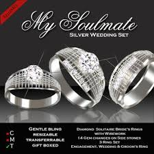 soulmate wedding ring second marketplace exquisite my soulmate wedding set silver