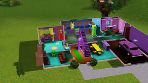 simpsons house floor plan the simpsons house in sims album on imgur ground floor yet to finish