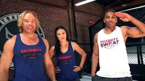Evander Holyfield Bench Press Celebrity Sweat Feat Anderson Silva Evander Holyfield Big John
