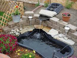Small Backyard Ponds And Waterfalls by Small Backyard Performed Pond And Waterfall Practical Preformed
