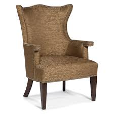 furniture cool wingback dining room chairs with brown upholstery