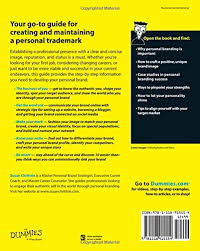 personal branding for dummies 2nd edition susan chritton