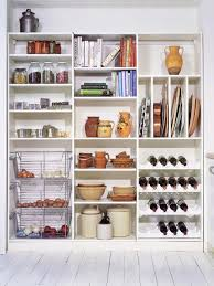 modern freestanding kitchen pantry storage ideas with white