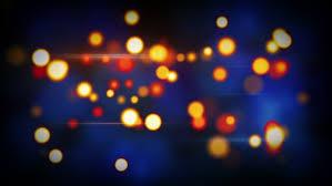 orange blue shining circle bokeh lights computer generated