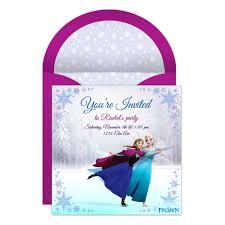 frozen birthday invitations online disneyforever hd invitation