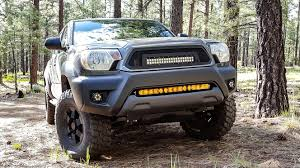 tacoma grill light bar kc hilites 30 kc flex led light bar and grill bracket mounting kit