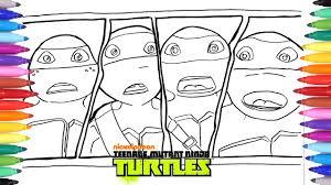 teenage mutant ninja turtles coloring pages leo donatello