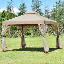 Awning Netting Fully Enclosed Garden Gazebo Outdoor Patio Canopy Mosquito Netting