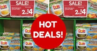 dole fruit snacks dole fruit bowls in coconut water coupon deals