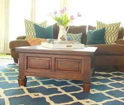 Painted Wood Coffee Table How To Paint Furniture With A Car Wash Sponge Refunk My Junk