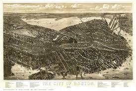 Boston Mass Map by Old Bird U0027s Eye Views Of Boston Massachusetts