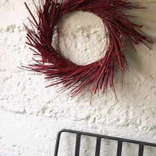 Holiday Wreath Red Dogwood Wreath Red Christmas Wreath Door Wreaths For Christmas