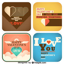 s day collection of cards retro style design vector