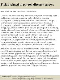 payroll manager resume top 8 payroll director resume sles