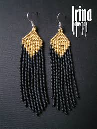 Handmade Seed Beaded Gold Plated 176 Best серьги Images On Pinterest Seed Beads Bead Jewelry And