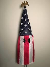 Miss Me American Flag Um Professor U0027s Art Turns American Flag Into Klan Hood Miami Herald