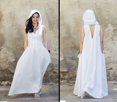 linen clothes for wedding white linen dress linen maxi dress hooded dress white maxi