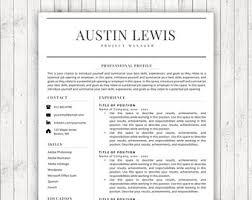Editable Resume Templates Editable Resume Etsy