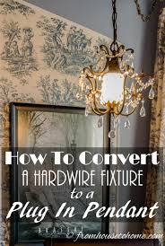 convert hardwire light to plug in to convert a hardwire fixture to a plug in pendant