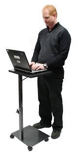 Portable Standing Laptop Desk by Laptop Stand Height Adjustable Sitech Systems Nz Ltd