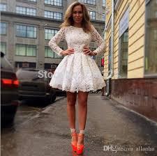 white dresses lace graduation dresses 2017 sweet sixteen sleeves