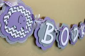 purple elephant baby shower decorations elephant chevron stripe and polka dot it s a girl or name