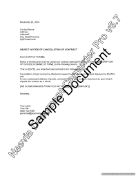 Notice Of Termination Of Employment Contract by Notice Of Cancellation Of Contract U2013 Lawyer Com Au