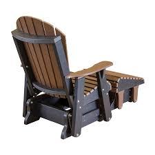 amish heritage poly adirondack chair glider