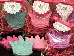 set of 10 tiara crown soap party favor baby shower princess