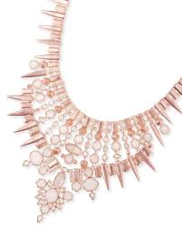 orange statement necklace images Seraphina rose gold champagne statement necklace kendra scott jpg