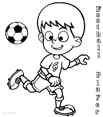 football player coloring page printable pages click the color