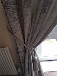 Gray Velvet Curtains Beautiful Next Grey Velvet Curtains In Hartlepool County Durham