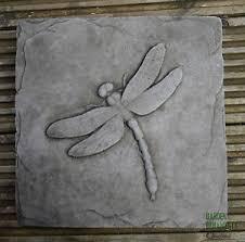 dragonfly garden wall plaque cast garden ornament