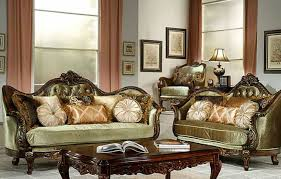 glossy sofa with victorian design idea victorian style living