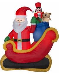 santa sleigh for sale fall sale airblown santa sleigh with gifts 7 5ft