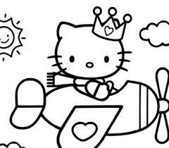 kitty coloring pages coloringpagesonly