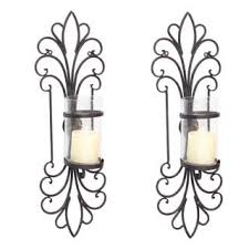 Wall Sconce Set Of 2 Uttermost Privas Rust And Bronze Wall Sconces Set Of 2 Free