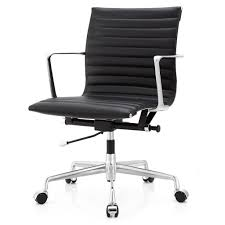 Office Chair Black Leather M5 Office Chair In Aniline Leather Color Options