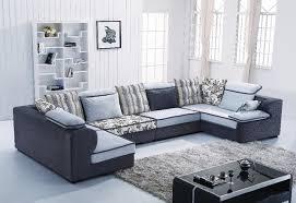 Living Room L Shaped Sofa Home Australia U Shape Sectional Fabric Sofa B1011 Living Room L