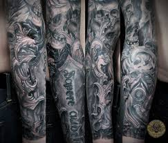 tattoo arm design skull horror viking military armsleeve fore arm by 2face tattoo