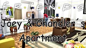 the sims 4 friends joey u0026 chandler s apartment youtube