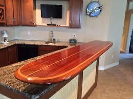 Surfboard Bar Table Barra De Tabla De Surf De Madera Mesa De Arte Para Decoración De