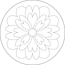 mandala simple coloring page archives queenmandala com