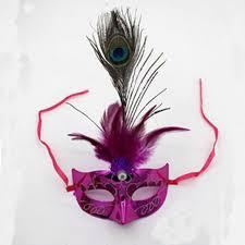feather masks 2018 women girl led light up peacock feather mask masks