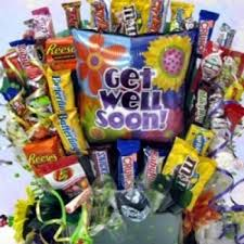 Get Well Soon Gift Basket Cheerful Wishes Get Well Chocolate Gift Basket By Candy Blast