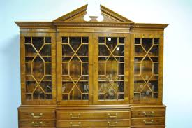 Antique Breakfront China Cabinet by Drexel Heritage Limited Ed 33 275 Heirloom Collection Breakfront