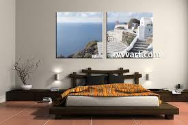 2 piece white canvas ocean home decor art