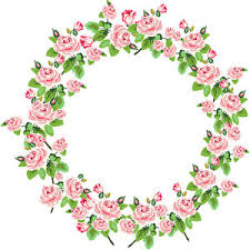 Shabby Chic Rose by Shabby Chic Rose Digital Wreath Clip Art For Scrapbooking