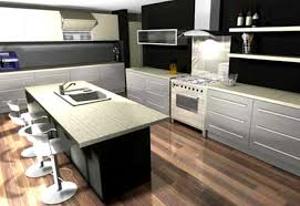 furniture contemporary kitchen design with rectangular stainless