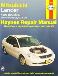 Mitsubishi Lancer Automotive Repair Manual Haynes Automotive